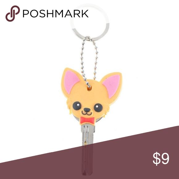 Chihuahua Key Cap Cover BRAND NEW - silicone // tags: pup puppies dogs dog woof bark adorable sweet love lovely keys pets pet animals animal cool awesome unisex amazing brown bows ties tie color fun neat chains keychain covers ring girly girls girl car keys gift gifts present girly girl girls womens women unique amazing face pink tan chi red face faces bow ties bow hair fun party present presents lover love covers caps accessories accessory accessorize rubber nice quality neat rad home keep…