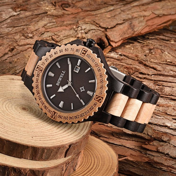 BEWELL Wood Watches for Men New Natural Wooden Watch with Date Clock Men's Analog Luminous Wristwatch Quartz Men Watch 2016-in Quartz Watches from Watches on Aliexpress.com | Alibaba Group
