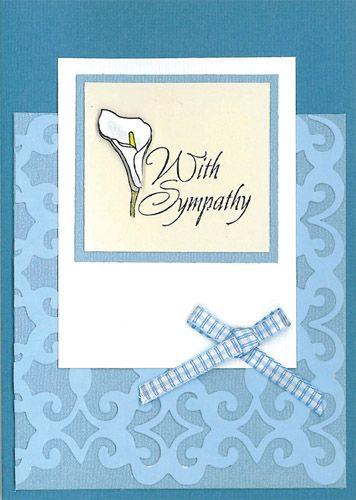 Stamp-it Australia: 4068D Sympathy Script  - Card by Susan