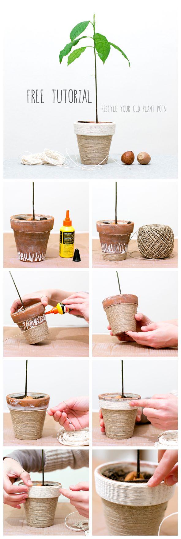 """""""C'era una volta un vecchio vaso di terracotta in cui viveva un seme di avocado..."""" Come mettere a nuovo un vecchio vaso di terracotta con questo semplice tutorial! By Jo handmade design"""