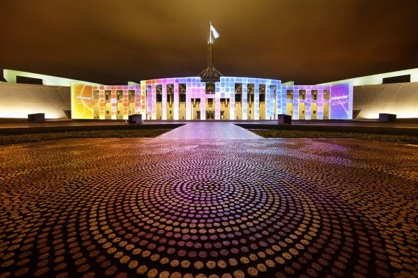 Enlighten Canberra Festival - Parliament House - Australia