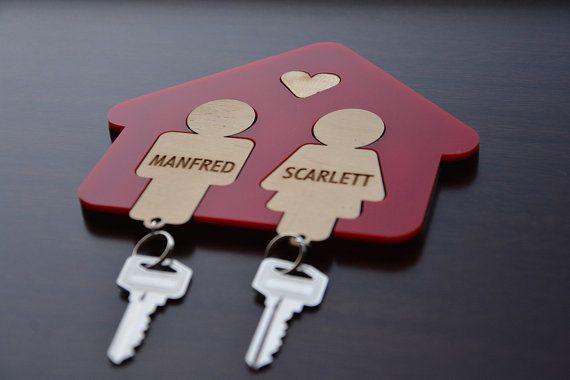 Plexi family House key chain rack with coat rack. by URARTDESIGN, $19.00