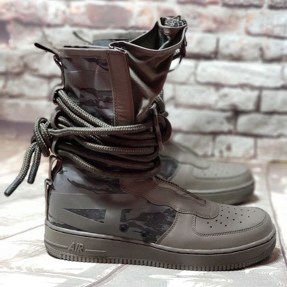 Nike Special Field Air Force 1 Hi Sz 9 Ridgerock Black Green Aa1128 203 SF Af1