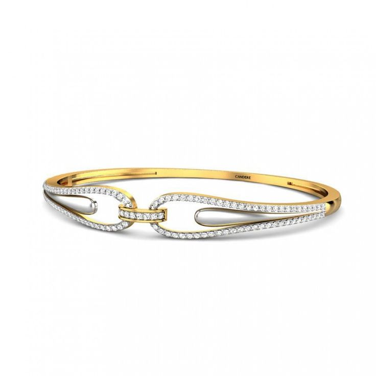 Round Diamond Yellow Gold 18K | Maria Diamond Bangle | Candere.com