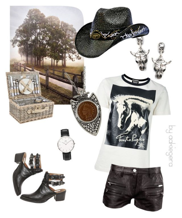 """""""It's a cowgirl, boys!"""" by aakiegera on Polyvore featuring мода, Steve Madden, FAUSTO PUGLISI, IRO, Sweet Romance, Daniel Wellington и American Coin Treasures"""