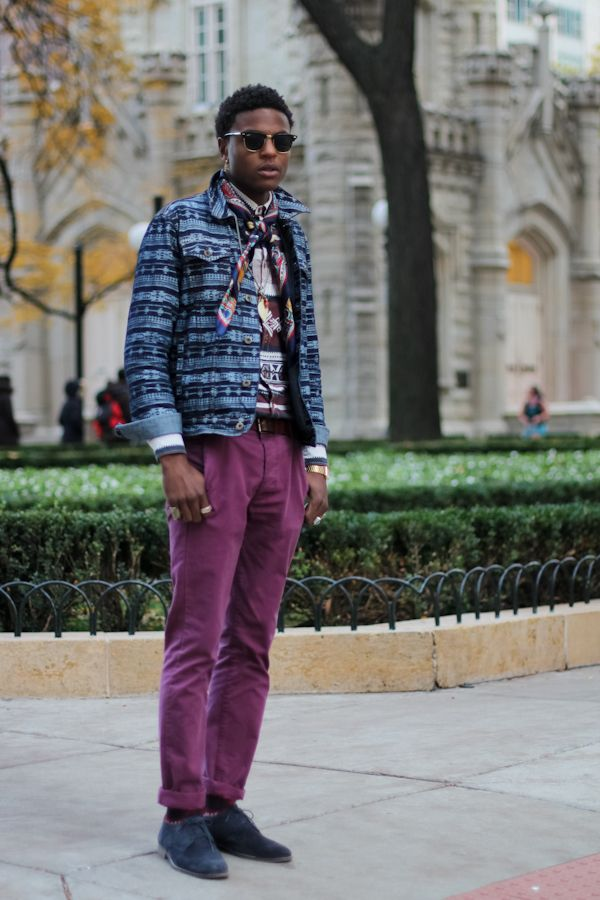 Eric on the Magnificent Mile from Chicago Street Style