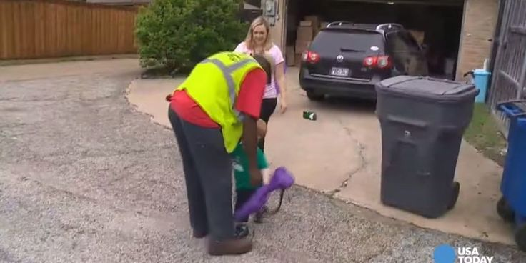 Adorable Two-Year-Old Has To Say Goodbye To His Best Friend: The Local Recycling Truck Driver