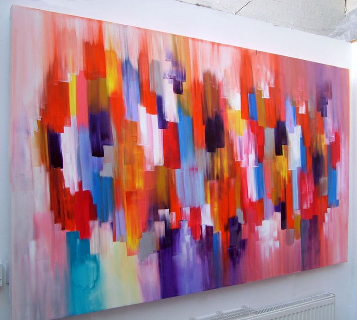 Easy abstract acrylic painting images for Canvas art on sale