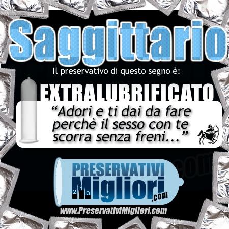 """Sagittario - Preservativo Extralubrificato - """"Adori e ti dai da fare perchè il sesso con te scorra senza freni"""" - http://www.preservativimigliori.com/lubrificati.html"""
