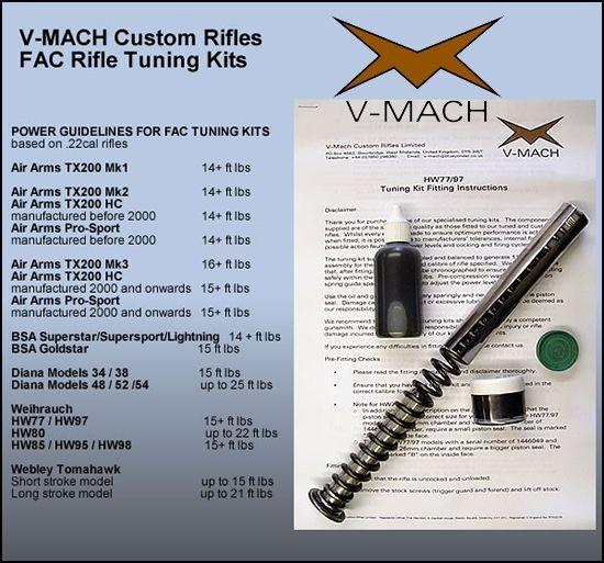V Mach tuning kit   Airguns   Air rifle
