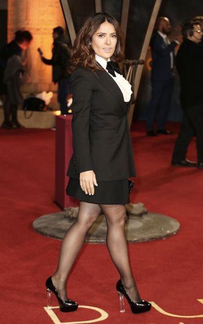 Salma Hayek legs in high heels