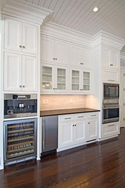 Michael Davis Design - kitchens - white cabinets, white cabinetry, white kitchen cabinets, white kitchen cabinetry, ceiling height cabinets,...