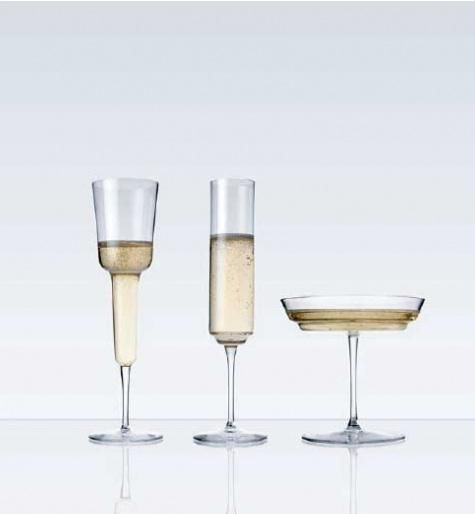 Hand-blown Champagne Glasses designed by Ilse Crawford and Michael Anastassiades