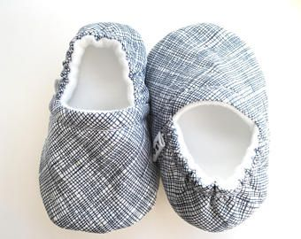 Blue Stripes Moccs, Baby Booties, Baby Slippers, Baby Crib Shoes, Baby Moccasins, Moccs, Baby Shoes, Soft Soled Baby Shoes