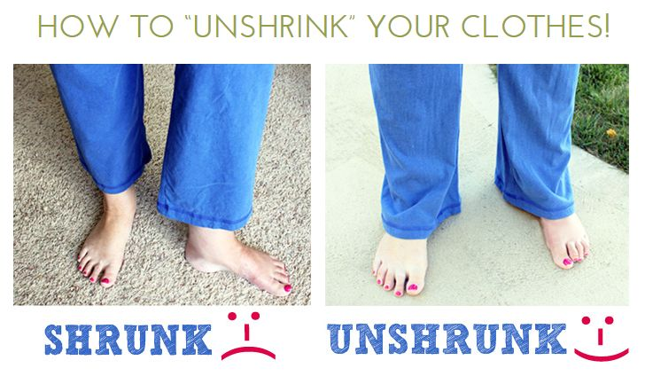 "How to ""Unshrink"" Your Clothes. You're Gonna Want To See This, It Works Like Magic!"