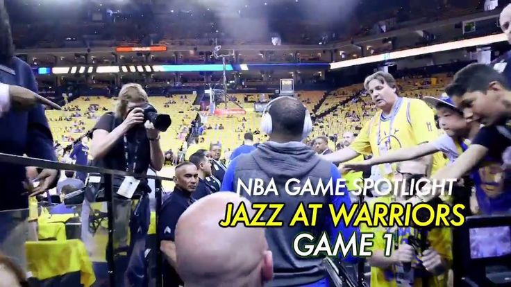 Ahead of tonight's Utah Jazz / Golden State Warriors Game 2 (10:30pm/et NBA on ESPN)... we go all-access at Game 1, won by Golden State! #NBAPlayoffs