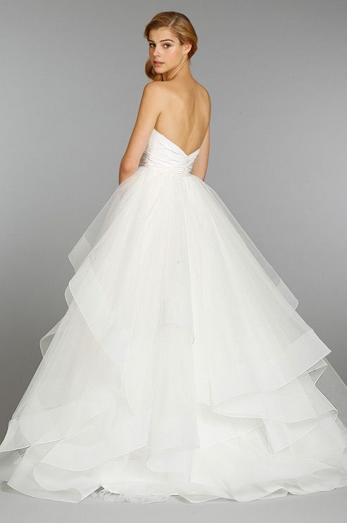 hayley paige, fall 2013  robe de mariée dos nu