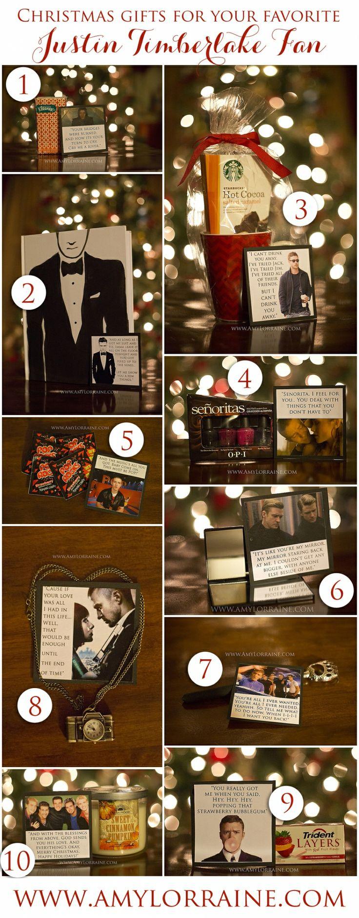 Present For A Justin Timberlake Fan www.amylorraine.com