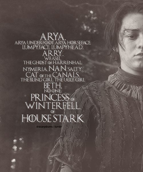Arya Stark ~ Game of Thrones Fan Art