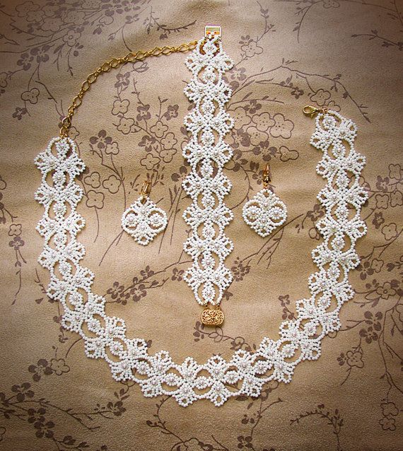Echo of Deco beaded lace set pdf tutorial by UnbridledDesign
