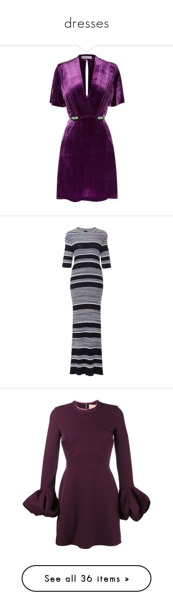 """dresses"" by sassysuzyq ❤ liked on Polyvore featuring dresses, short dresses, sparkly mini dress, sparkly dresses, short velvet dress, purple dresses, velvet mini dress, stripe, form fitting dresses and striped dresses"