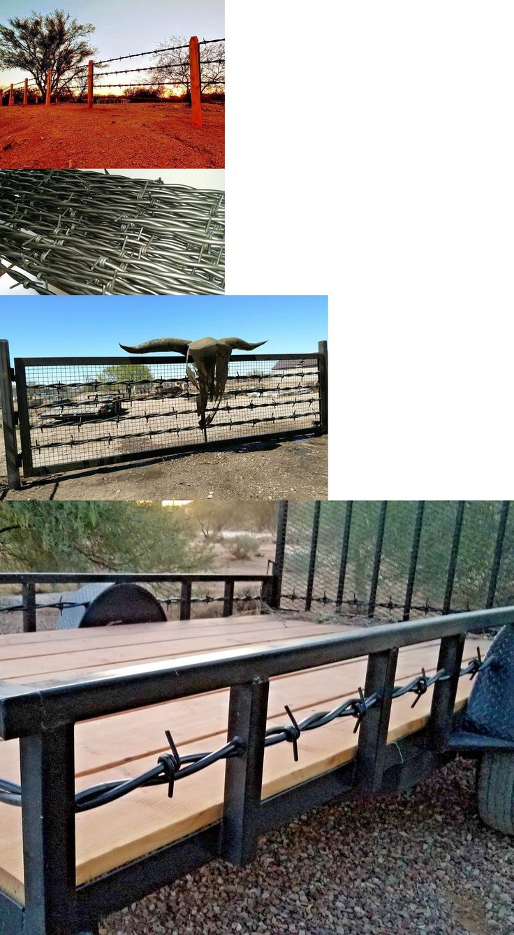 Fence Panels 139946 Big Barb Wire Usa Steel Gates