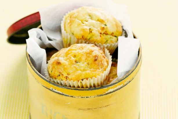 With vegetables for added nutrition and lots of cheese for flavour, these marvellous muffins make great after-school snacks.