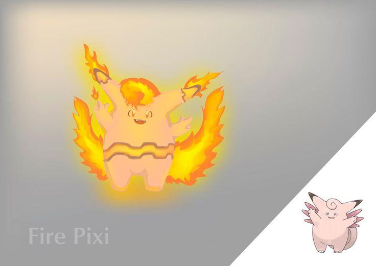 Fire Pixi by Lalingla on DeviantArt