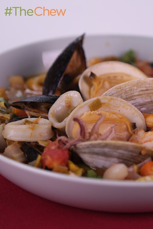 This Italian inspired seafood Zuppa di Pesce by Michael Symon is so versatile, it's perfect for dinner parties or weeknight family meals alike.  #TheChew