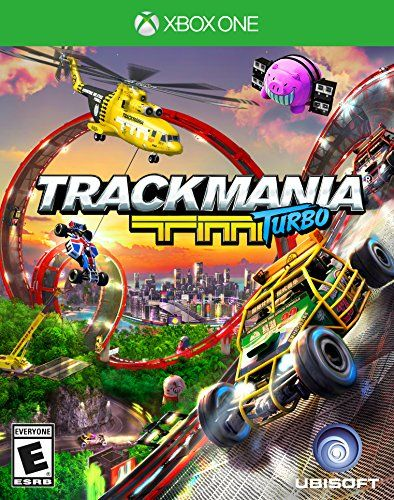 TrackMania Turbo - Xbox One. Racing video game. Step into the wild car fantasy world of Trackmania Turbo, where everything is about having fun chasing the fastest time. Discover the ultimate time attack racing experience with over 200 head-spinning tracks, set in 4 beautiful environments, each with their own play style.