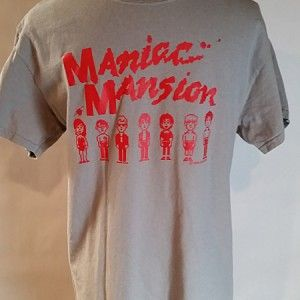 Retro Game Maniac Mansion Tee 1990