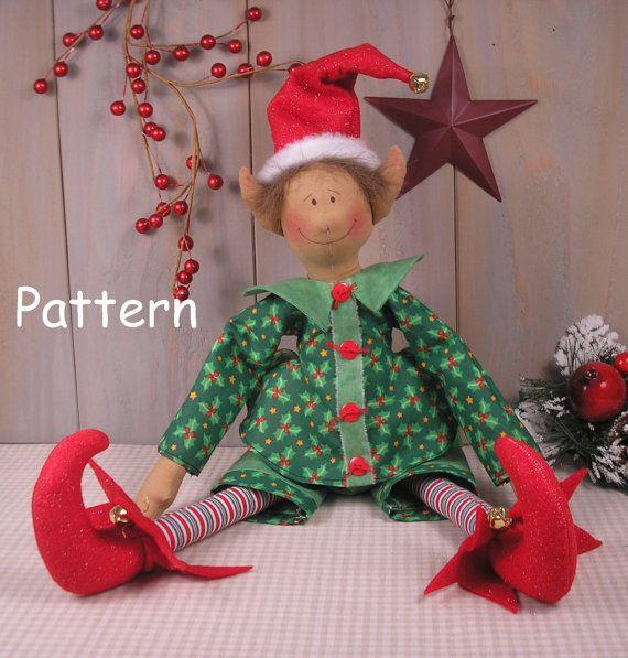 PDF EPattern 37 Christmas Elf Vintage Style by cottonwoodcountry