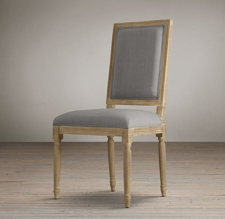 vintage french square upholstered side chair fabric arm u0026 side chairs restoration hardware