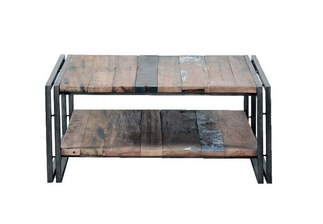 Earth de Fleur Homewares - Recycled Industrial Coffee Table 'EDITO' 80CM