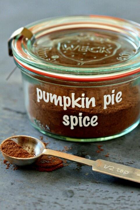 Make your own Pumpkin pie spice blend