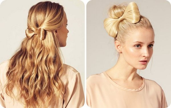 Elegant Party and Bow Hairstyles for Christmas