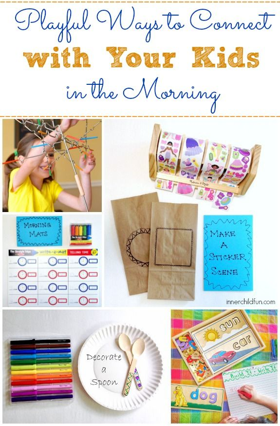 Morning Activities Before School -- Lots of playful ways to connect with your kids in the morning before school! #kids