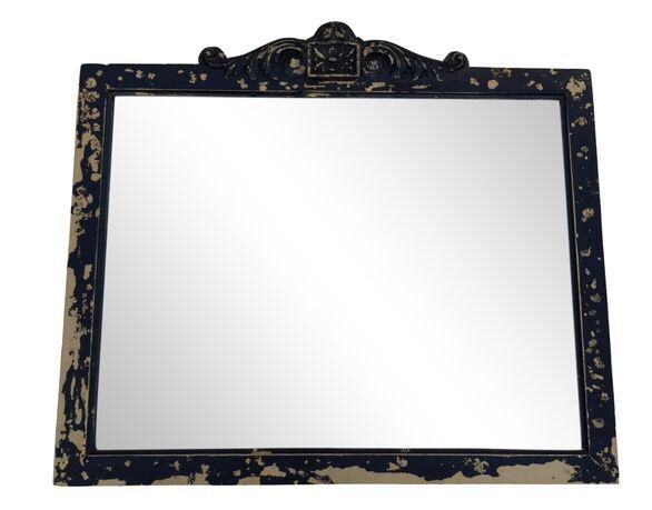 Antique Black Wall Mirror on Chairish.com