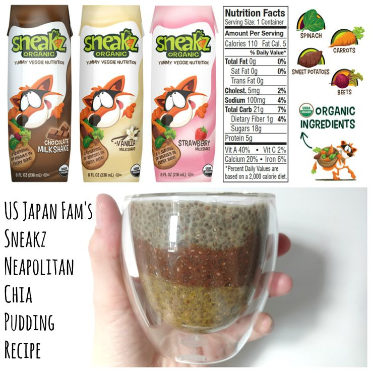 Check out my Sneakz Organic Neapolitan Chia Pudding, featuring yummy flavored milk (packing 1/2 a serving of veggies in each box) + chia seeds (packed with Omega 3's, fiber, and antioxidants)!! Click for my recipe and the chance to win 6 six-packs of Sneakz in my $400 value jackpot Spring Goodies for the Kiddies #Giveaway!!! #ad