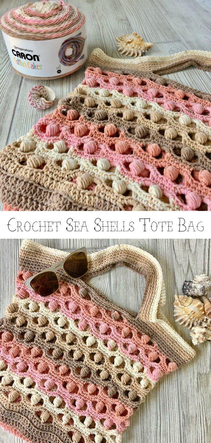 Sea Shells Tote Bag Free Crochet Pattern