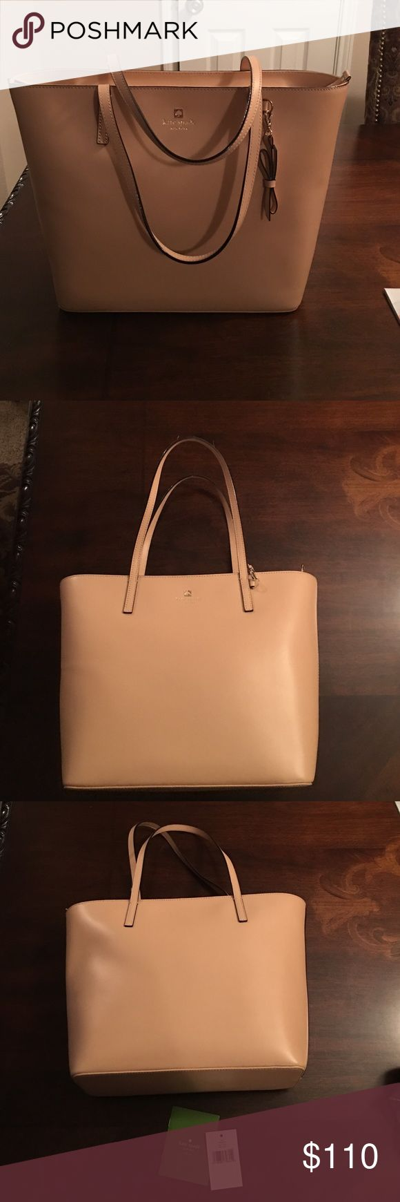 Tan Kate Spade Travel Tote Smooth leather Kate Spade tan Tote bag. Never worn. Open to offers. kate spade Bags Totes
