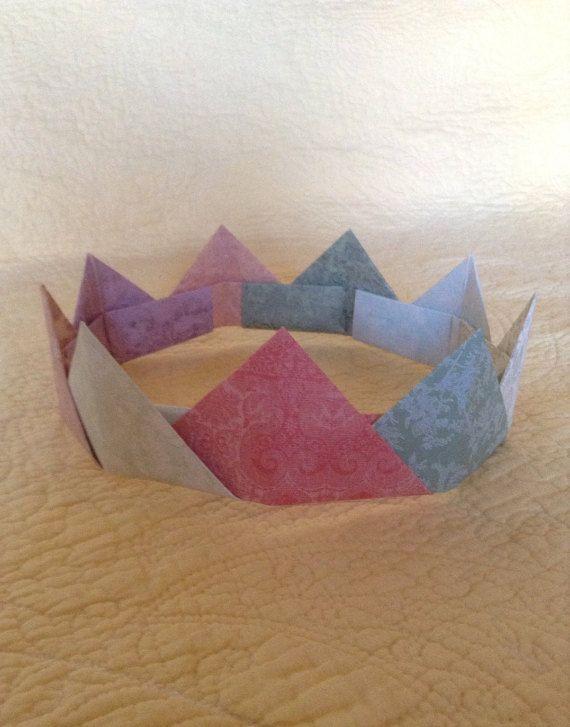 Paper Crown Birthday Crown Christmas Crown by onMULBERRYlane