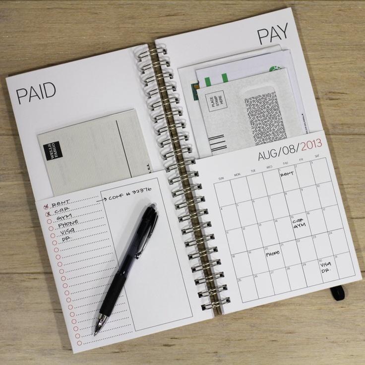 Calendrier pour suivre le paiement de ses factures