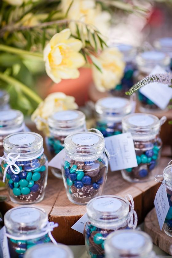 Little Jars Filled With MM Make Sweet Wedding Favors See More MMs And