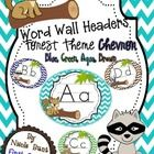 These word wall headers will go great with your forest/camping theme. The colors will go great with a blue/green theme or chevron accents. The head...