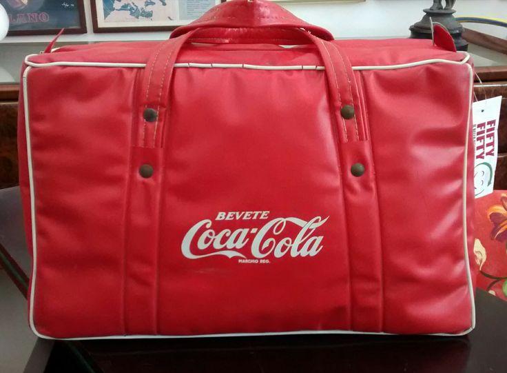 Borsa termica Coca-Cola anni '60 Renco Marwell Milano #vintage #Coca-Cola