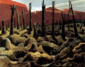 WW1 painting - We Are Making A New World 1918 (IWM). Paul Nash.