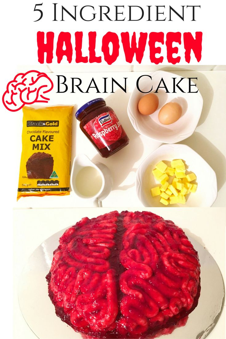 Halloween is around the corner and this Halloween Brain Cake is perfect for all the procrastinators out there who want something cool but are cut for time..