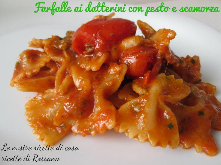 Farfalle ai datterini con pesto e scamorza  Have a look at our website: www.italiaamicamia.com