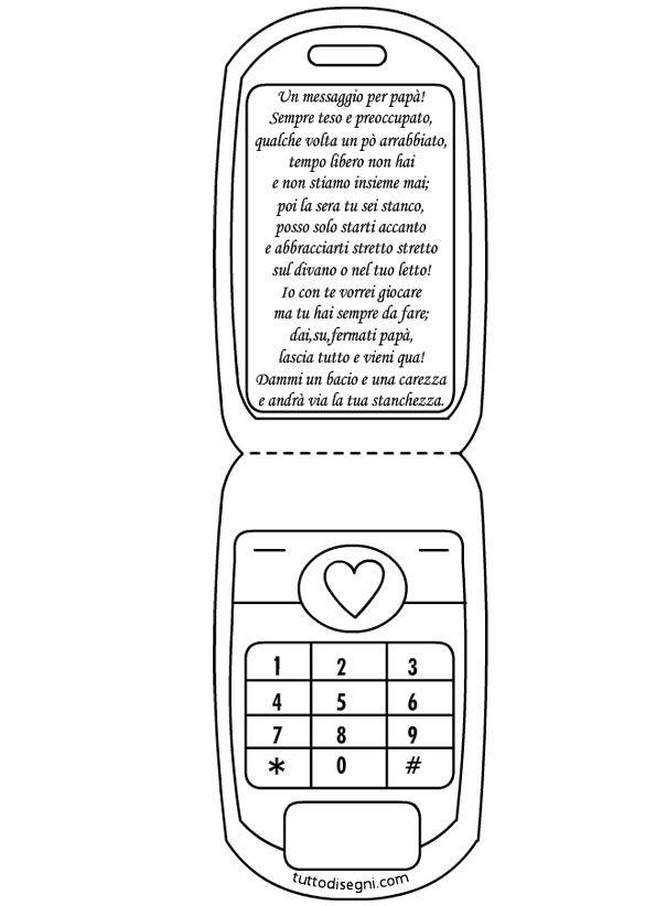 Biglietto Festa del Papà a forma di cellulare